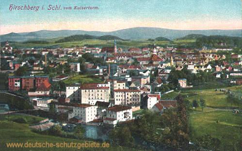 Hirschberg in Schlesien vom Kaiserturm