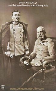 Kaiser Franz Joseph und Erzherzog-Thronfolger Karl Franz Josef