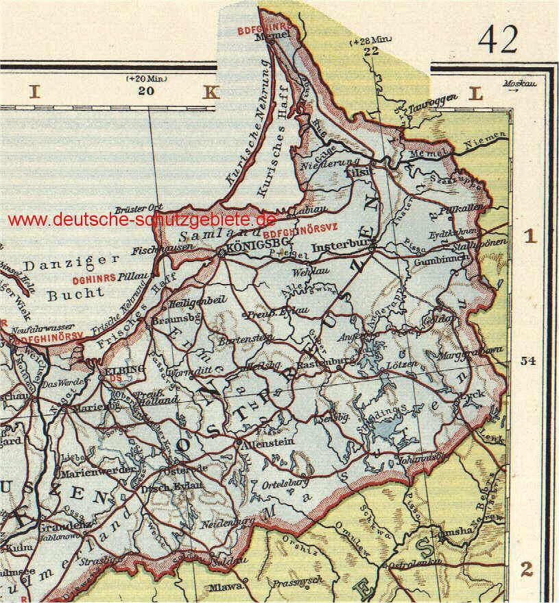 deutsche karte von ostpreußen Provinz Ostpreußen (Provinzhauptstadt Königsberg) | deutsche