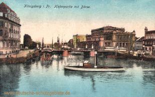 Königsberg i. Pr., Hafenpartie mit Börse