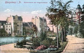 Königsberg i. Pr., Schlossteich mit Bogenschütze