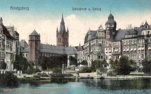 Königsberg i. Pr., Schlossteich und Schloss