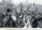 Der Kaiser unter seinen siegreichen Truppen auf dem marktplatz in Lyck am 14. Februar (1915) nach der Vertreibung der Russen aus ihren um die Stadt angelegten Stellungen.