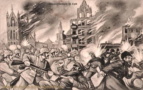 Straßenkämpfe in Lyck