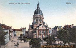 Mainz, Kaiserstraße mit Christuskirche