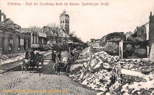 Ortelsburg, Nach der Zerstörung durch die Russen, Rastenburger Straße