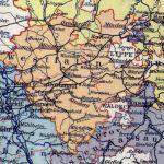 Provinz Westfalen, Landkarte 1900