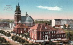 Ratibor, Evangelische Kirche mit Gartenstraße