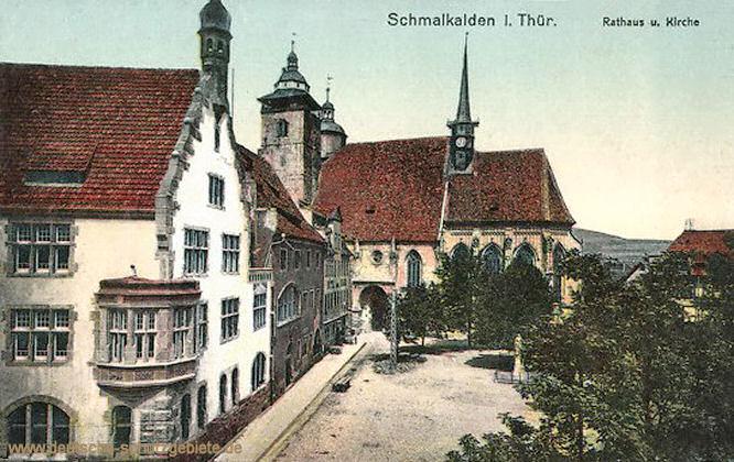 Schmalkalden, Rathaus und Kirche