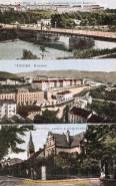 Teschen, Kaiser Franz Josefbrücke mit den Kasernen