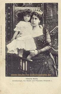 Viktoria Melita Großherzogin von Hessen und Prinzessin Elisabeth †