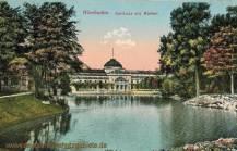 Wiesbaden, Kurhaus mit Weiher