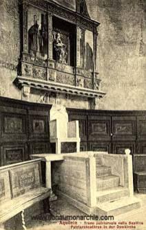 Aquileia, Patriarchenthron in der Domkirche