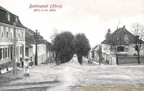 Ballenstedt (Harz), Blick in die Allee