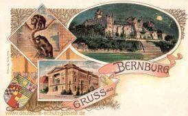 Bernburg, Bärenzwinger, Theater, Schloss, Wappen