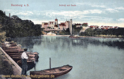 Bernburg, Schloss mit Saale