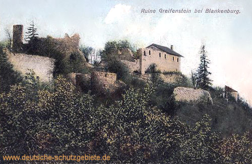 Blankenburg Harz, Ruine Greifenstein