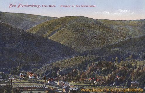 Bad Blankenburg, Thüringer Wald, Eingang in das Schwarzatal