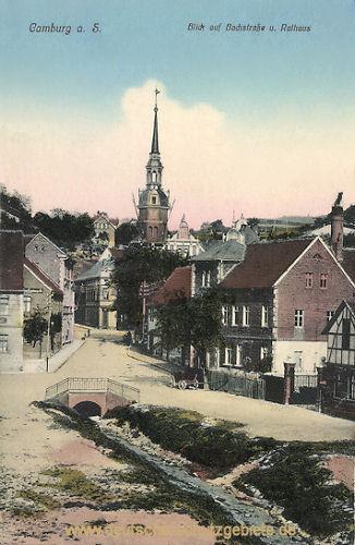 Camburg a. S., Bachstraße und Rathaus