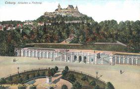 Coburg, Arkaden und Festung