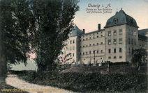 Coswig i. A., Partie an der Reitbahn mit früherem Schloss