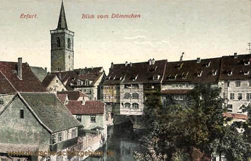 Erfurt, Blick vom Dämmchen (Krämerbrücke)