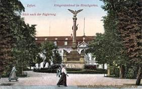 Erfurt, Regierung mit Kriegerdenkmal im Hirschgarten