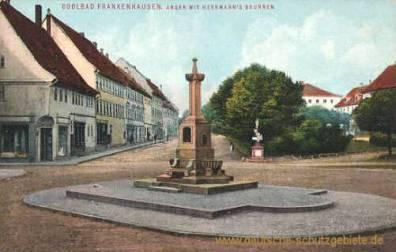 Frankenhausen, Anger mit Herrmannsbrunnen