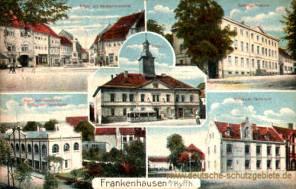 Frankenhausen, Rathaus, Kräme, Realprogymnasium, Technikum, Maschinen-Laboratorium