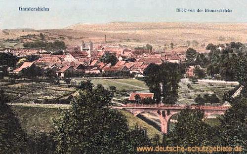 Gandersheim, Blick von der Bismarckeiche