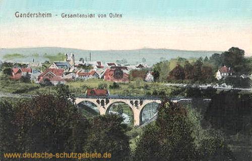 Gandersheim, Gesamtansicht von Osten