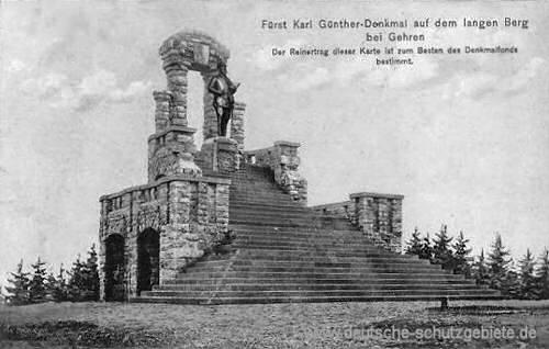 Gehren, Fürst Karl Günther-Denkmal auf dem langen Berg