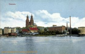 Gnesen, Dom und Stadtansicht