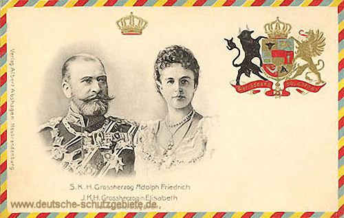 S. K. H Großherzog Adolph Friedrich und I. K. H. Großherzogin Elisabeth von Mecklenburg-Strelitz
