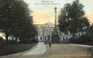 Güstrow, Kriegerdenkmal und Landgericht