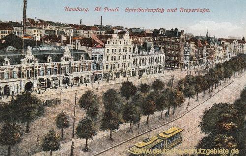 Hamburg, St. Pauli, Spielbudenplatz und Reeperbahn