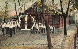 Hildburghausen, Turnhalle mit Garten des Turnvereins