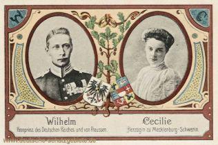 Cecilie Auguste Marie Herzogin zu Mecklenburg-Schwerin wurde durch Heirat mit Kronprinz Friedrich Wilhelm zur Kronprinzessin des Deutschen Kaiserreiches. 1905
