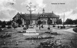 Lage, Sedanplatz mit Bahnhof