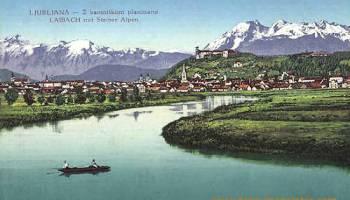 Laibach mit Steiner Alpen