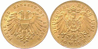 Lübeck, 10 Mark, 1901