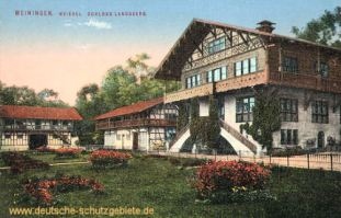 Meiningen Meierei. Schloss Landsberg