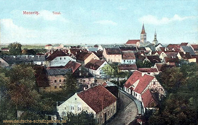 Meseritz, Stadtansicht