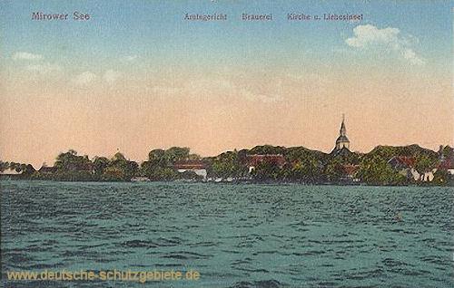 Mirow, Amtsgericht, Brauerei, Kirche und Liebesinsel