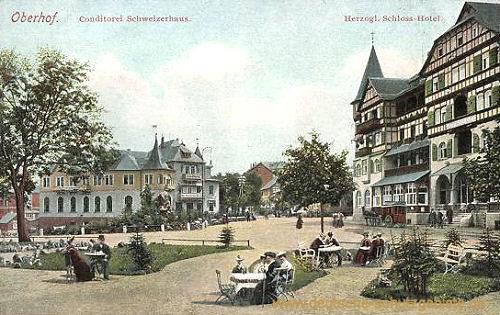 Oberhof, Conditorei Schweizerhaus & Herzogliches Schlosshotel