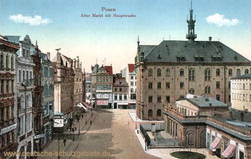 Posen, Alter Markt mit Hauptwache