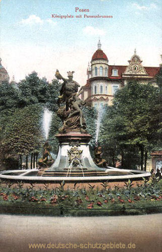 Posen, Königsplatz mit Perseusbrunnen