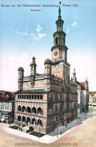Posen, Rathaus, Gruss von der Ostdeutschen Ausstellung 1911
