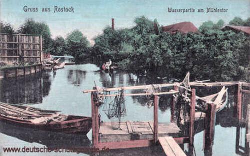 Rostock, Wasserpartie am Mühlentor