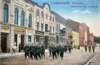 Schneidemühl, Posener Straße (Ausrücken der Infanterie)